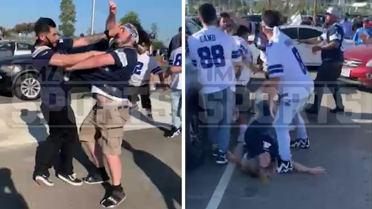 Raiders Fans Wail On Chargers Supporter During 'MNF' Game Fight
