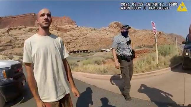 Brian Laundrie speaking to police following domestic violence call (Moab Police Department)