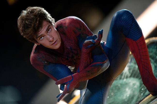 Andrew Garfield Leaked Clip Spider Man - THE AMAZING SPIDER-MAN, Andrew Garfield, as Spider-Man, 2012. ph: Jamie Trueblood/©Columbia Pictures/courtesy Everett Collection