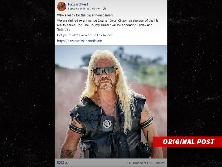Dog the Bounty Hunter Cancels Hazzard Fest Appearance to Focus on Laundrie