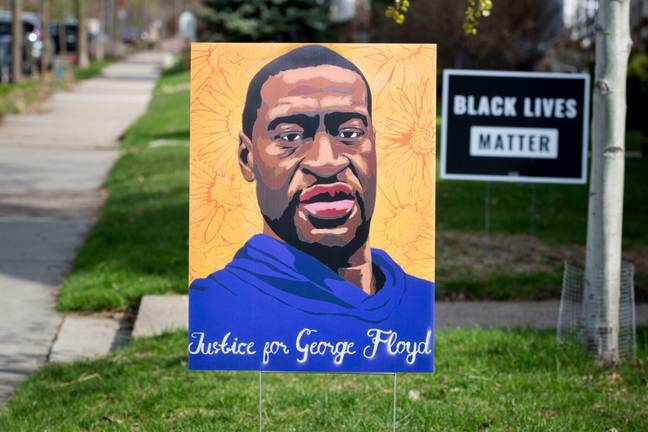 Justice for George Floyd sign (Alamy)